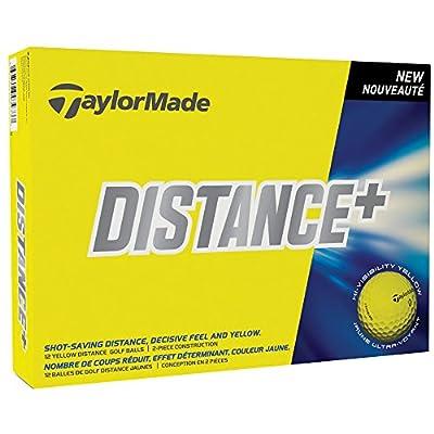 2 Dozen New TaylorMade Distance+ Plus Golf Balls Yellow