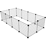 KOUSI Small Pet Pen Bunny Cage Dogs Playpen Indoor Out door Animal Fence Puppy Guinea Pigs, Dwarf Rabbits, 12 Panels Review