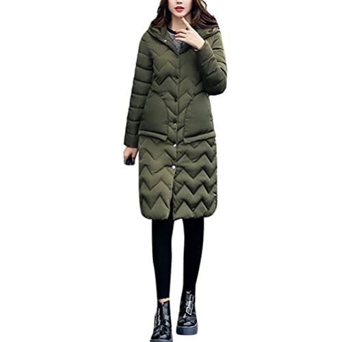 Zhhyltt Caliente para el invierno Fashion Winter New Cotton Ladies Korean Style Slim Long Thick Hood...