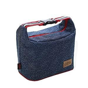 jecxep aislamiento caja de almuerzo/Denim/bolsa para el almuerzo con cremallera/bolsa de picnic