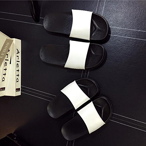 Farbe Sohlen Paar Schwarz Badezimmer Einfache Sandalen Größe 43 Hausschuhe Hausschuhe Hausschuhe Creative 42 Paar Rutschfeste SUxian Weiche Sommer Weiß xw4SOHqz
