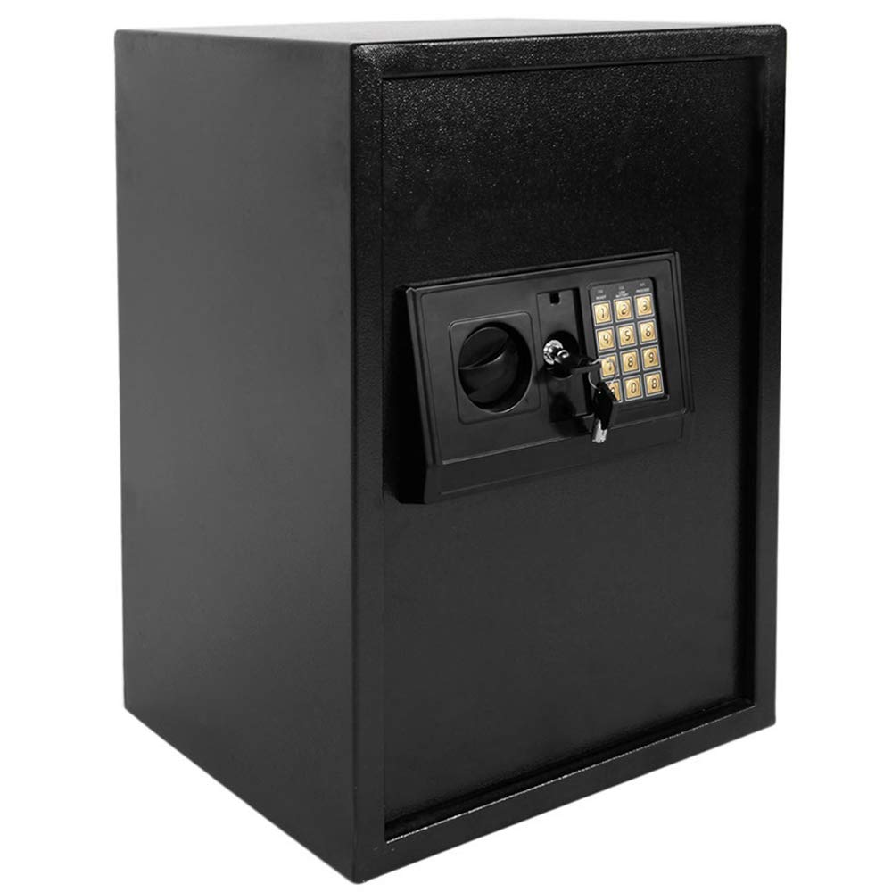 Security Safe - Digital Safe Box, Electronic Steel, Safe Box with Key Lock to Protect Money, Jewelry, Passports for Home, Business or Travel (13.85 x 11.89 x 19.76 inch) by Suines