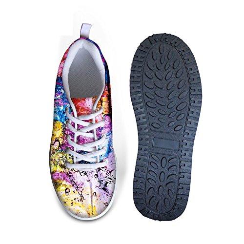 Per Te Disegni Colorati Graffiti Womens Zeppe Comfort Zeppe A Piedi