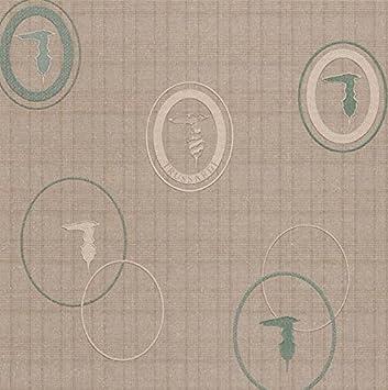 Papier peint griffata Trussardi Wall Decor en vinyle lavable Texture ...