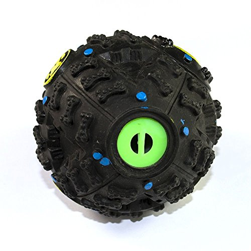 Dog Toys Ball, MXtechnic Interactive Pet Squeaky Treat IQ Toys Ball Food Ball for Training 60%OFF