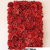 1 piece 60X40CM Artificial Silk Rose Flower Wall Hanging Wedding Christmas Decorative Silk Hydrangea Wedding Decoration Backdrop