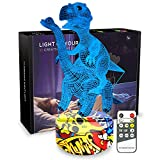 Night Lights for Kids Dinosaur Lamp 3D Kids Night Light 7 Colors Change Dinosaur Toys with Remote Control Christmas Birthday Gifts for Girls Boys Kids Baby Lover (Dino+Diplodocus)