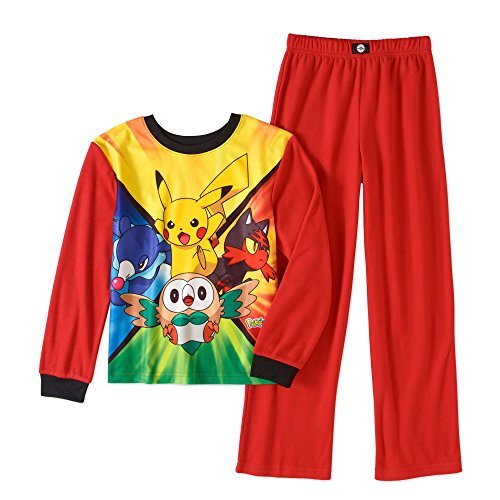 Youth Micro Poly Pant - Pokemon Sun & Moon Boys Poly 2-Piece Pajama Set (14-16 )