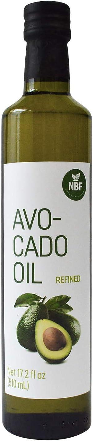 NBF 100% Pure Avocado Oil 17.2 Oz Naturally Refined for Cooking Cold Pressed Non-GMO Keto & Paleo Friendly