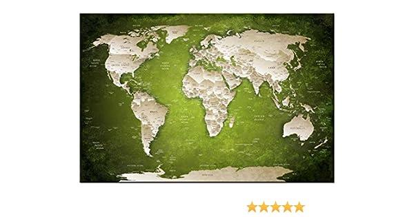 Dsign24 Mapa del Mundo como Lienzo, varios tamaños, Globo ...