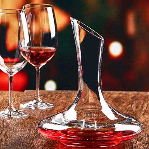 RISHIL WORLD 1500ml Elegant Lead Free Crystal Glass Wine Decanter Red Wine Carafe Aerator Wine Pourer Single Item. from RISHIL WORLD