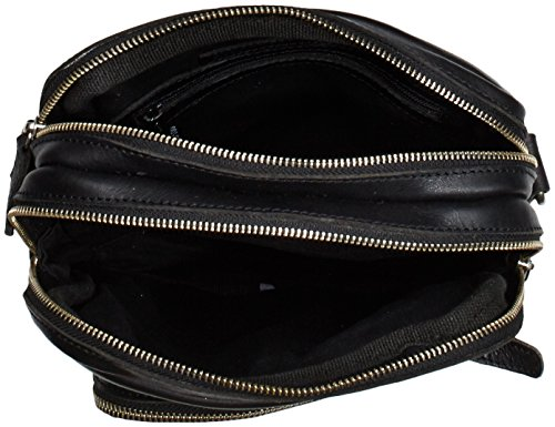 Hombro Unisex Negro de Cuero Adulto Bolso Alva Cowboysbag Black 100 de Bag Schwarz w1Iq0xUxg6