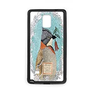 Jumphigh Animal Samsung Galaxy Note 4 Cases Chincol Protective Cute For Girls, Phone Case For Samsung Galaxy Note 4 For Guys, {Black}