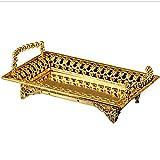 iecool Zinc Alloy Continental KTV Bar Hotel Fashion Fruit Tray Gold 59.539.5cm