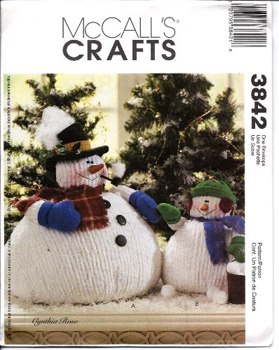 (McCall's Crafts Pattern 3842 Chubby Snowman and Snow Child)