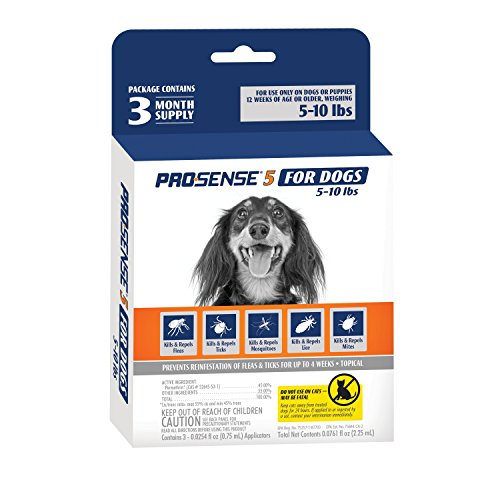 ProSense 5 Flea and Tick Prevention for Dogs 5-10 lbs – 3-Month Supply