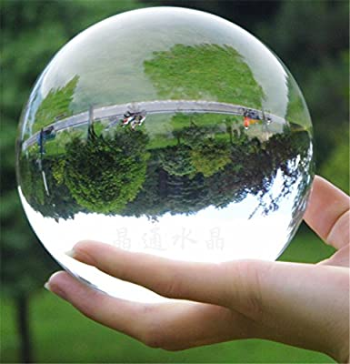 110mm Asian Rare Quartz Clear Magic Crystal Healing Ball Sphere ST New Huge