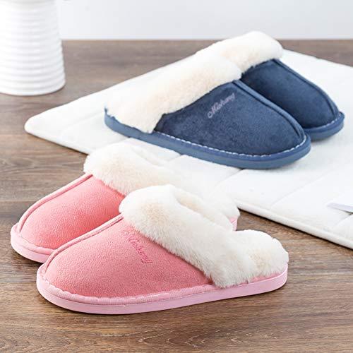 Plüsch Blau Pastaza Herren Slipper Warm Pantoffeln Fell Winter Haus Indoor Hausschuhe Damen Unisex Cxwq65H