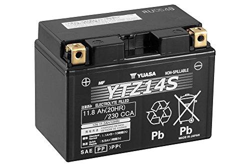 YUASA YTZ14S, batteria per moto, 12 V/11,2 AH (dimensioni: 150 x 87 x 110)