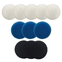 Finest-Filters Compatible Media Set For Eheim Classic 2215 Including 5 x Poly, 3 x Coarse Foam, 3 x Carbon