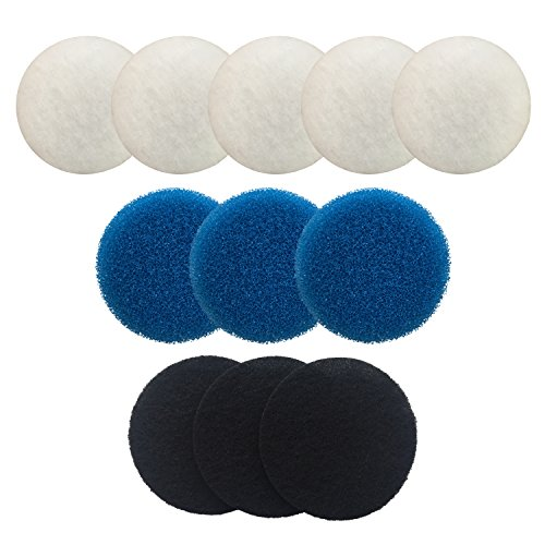 Finest-Filters Compatible Media Set For Eheim Ecco 2232 / 2234 / 2236 Including 5 x Poly, 3 x Coarse Foam, 3 x Carbon Coarse Poly Filter Pad