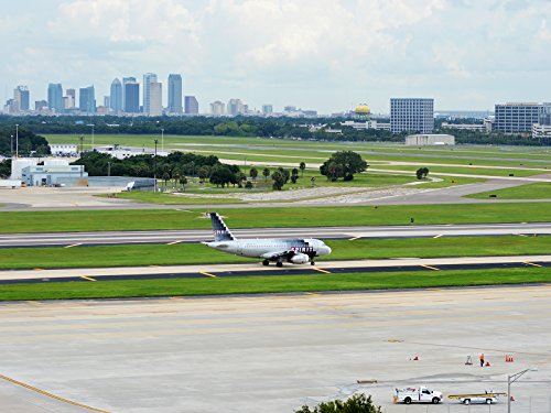 Tampa Poster Airport Poster Airplane Poster Tampa Cityscape ()