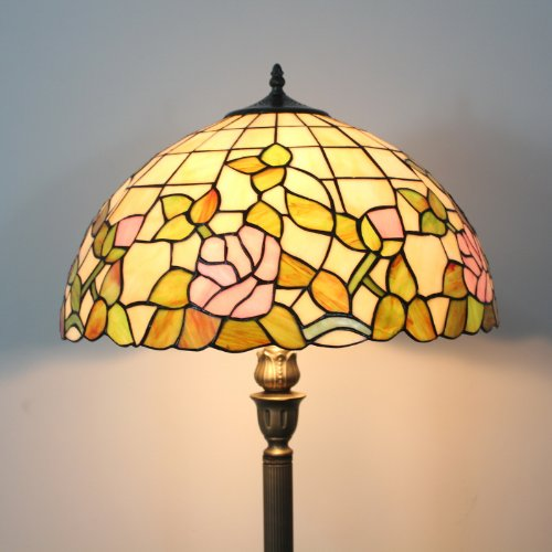 Tiffany 16 Inch European Style Stained Glass Floor Lamp 3 Light