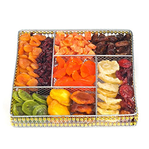 ONEG Square Wire Large Dried Fruit Platter, Assorted, 65 Ounce (Dried Fruit Platters)