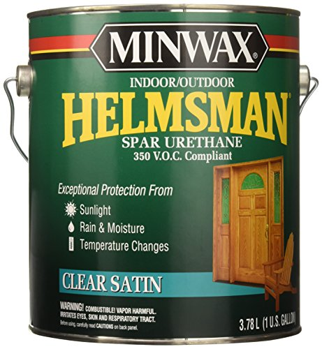 Minwax 132200000 Helmsman Indoor/Outdoor Spar Urethane 350 VOC, 1 gallon, Satin (Wood Outdoor Varnish Furniture)