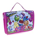 Shopkins Toy Carry Case - Figure Storage Organization 2-Fold W/ Handle - Pink