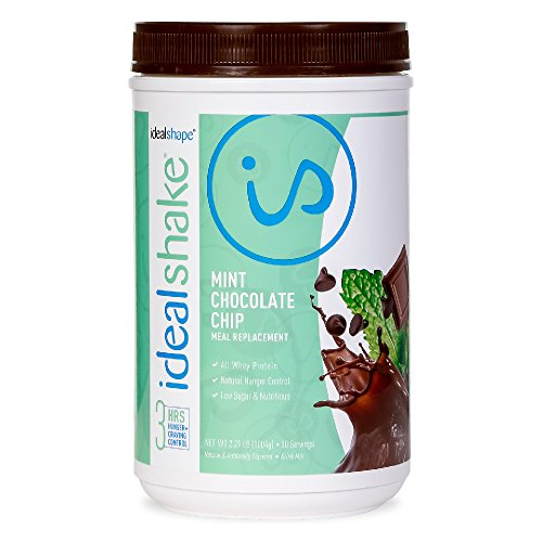 IdealShake Meal Replacement Shakes |11-12g of Healthy Whey Protein Blend | Promotes Weight Loss | 22 Essential Vitamins & Minerals | 5g of Fiber | Chocolate Mint | 30 Servings