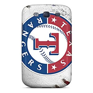 Galaxy S3 Case Cover - Slim Fit Tpu Protector Shock Absorbent Case (texas Rangers)