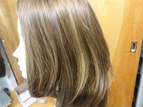 Malky European Wig Sheitel Multidirectional Human Hair Medium Brown 10-6-8