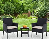 PayLessHere 3 Piece Furniture Patio Chairs Wicker
