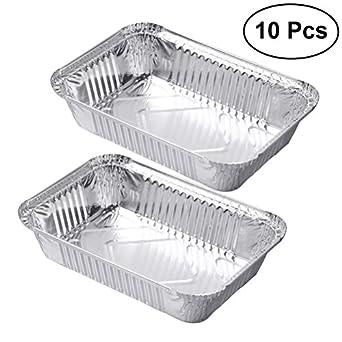 Amazon.com: ounona Lámina De Aluminio los contenedores de ...