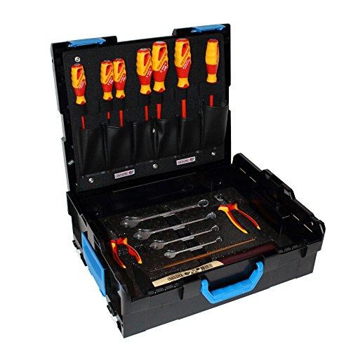 BOSCH GEDORE Werkzeugkasten L-Boxx Gr. 2 / 136 Basic Sortiment 16-tlg. Handwerkzeugset
