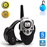 [2016 New Version] Flydog 1100 Yard Waterproof Rechargeable Remote Training Dog Collar with Beep, Vibration for 2 Dogs