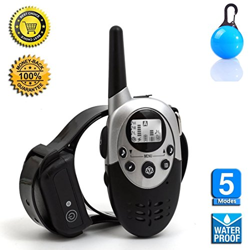 [2016 New Version] Flydog 1100 Yard Waterproof Rechargeable Remote Training Dog Collar with Beep, Vibration for 2 Dogs by havenfly
