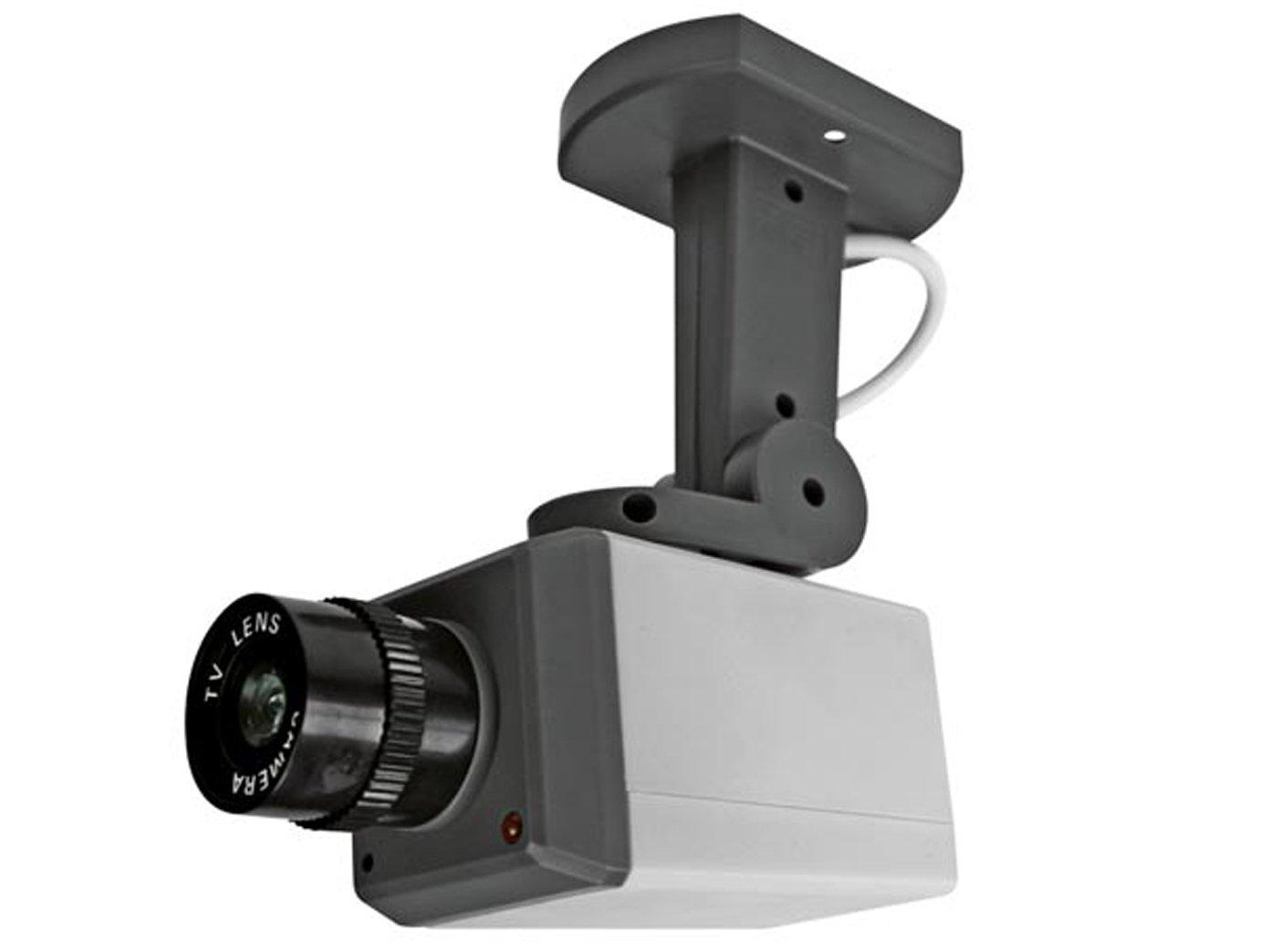 Juego de 2 de cámara falsa giratorio, sensor de movimiento, vivos ledes, pilas: Amazon.es: Bricolaje y herramientas