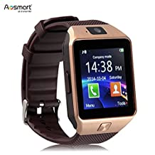 Aosmart Bluetooth Touch Screen Smart Wrist Watch Phone with Camera (XZ7 - Gold)