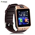 Bluetooth Smart Watch with Camera, Aosmart DZ09 Smartwatch for Android Smartphones – Gold