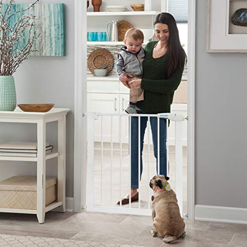 Yicostar Baby Gate for Doorways, 29.5-40.5 Inches Extra Wide Pet Gates Tall Metal, Pressure Mount Auto-Close Indoor Safety Gates for The House, Stairs, Hallway, Dogs