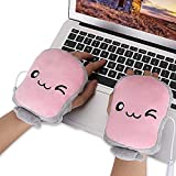 Toast USB Hand Warmers Cute USB Heating Gloves Half Wearable Fingerless 5V USB Powered Heated Hand Warmer Gloves with Gift Box for Women and Children Winter Fashion
