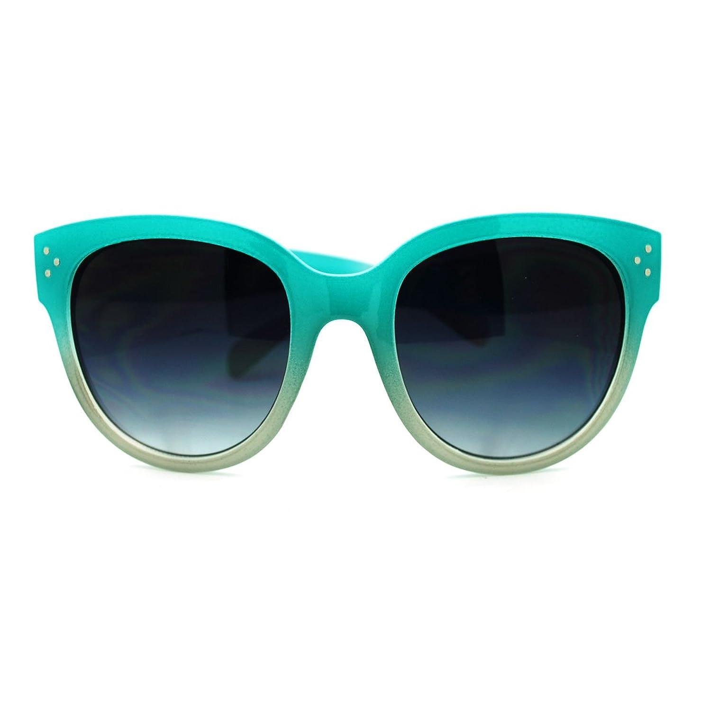 Dip Dye 2 Tone Oversized Girly horned Sunglasses