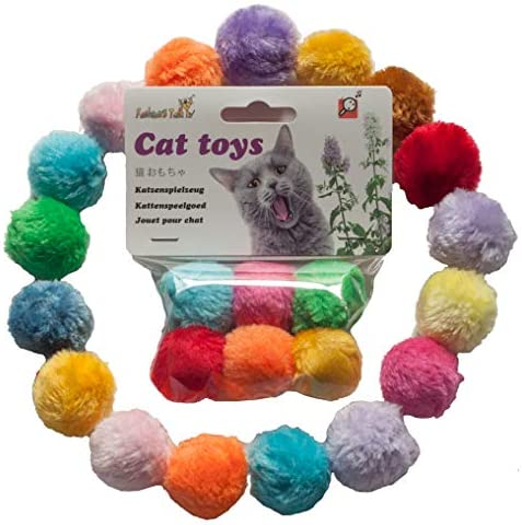 Fashion's Talk Cat Toys Furry Rattle Ball for Kitty 2