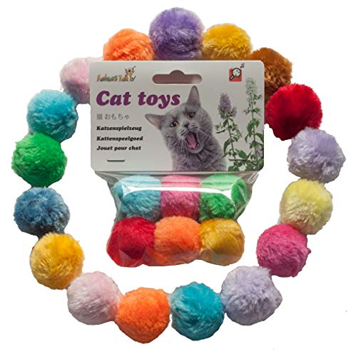 Fashion's Talk Cat Toys Furry Rattle Ball for Kitty