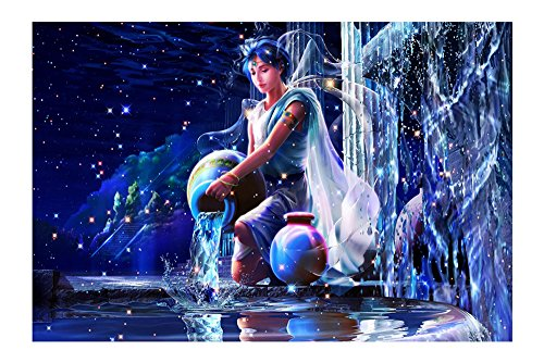 Diamond Videos 5d new zodiac fantasy cartoon series decorative painting paste diamond stitch,aquarius