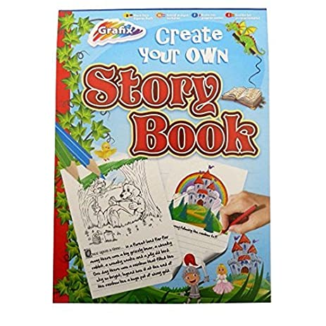 amazon com a4 make your own story drawing book 80 sheets padded