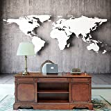 Ohcde Dheark Vintage Stereoscopic World Map Large Mural 3D Wallpaper For Wall 3D Wallpaper European-Style Living Room Sofa Backdrop,430cmX300cm(169.3 By 118.1 In )