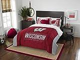 Wisconsin Badgers Full Comforter and Sham